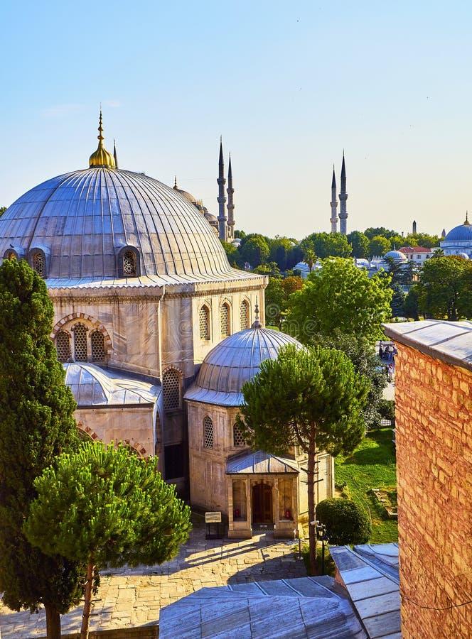 Túmulo de Sultan Murad III A mesquita de Hagia Sophia Istambul, Turquia fotografia de stock