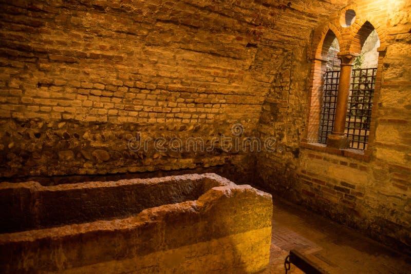 Túmulo de Verona de Juliet imagem de stock