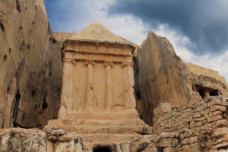 Túmulo de Zechariah. Jerusalém, Israel fotografia de stock