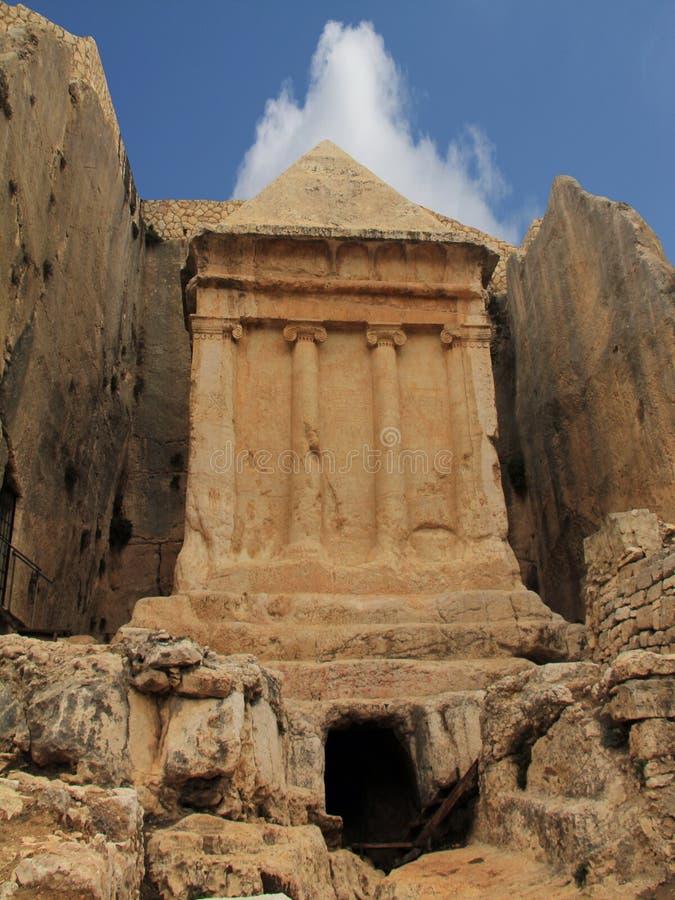 Túmulo de Zechariah. Jerusalém, Israel imagem de stock royalty free