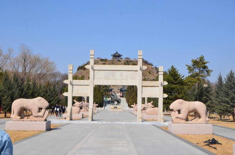 Túmulo de Zhaojun imagens de stock