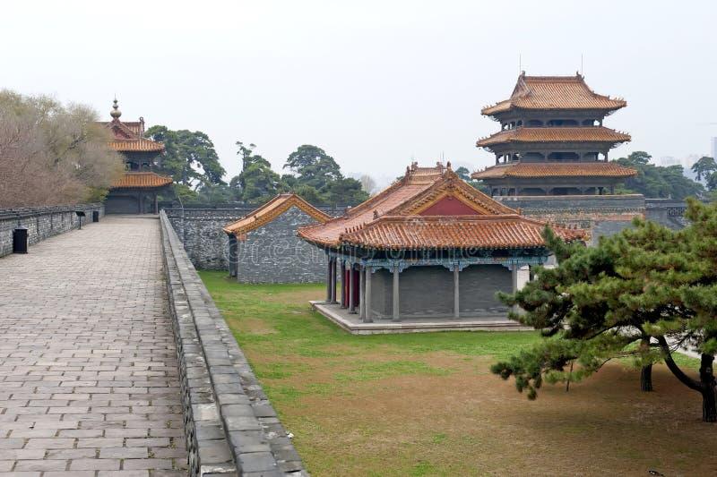 Túmulo de ZhaoLing - palácio foto de stock