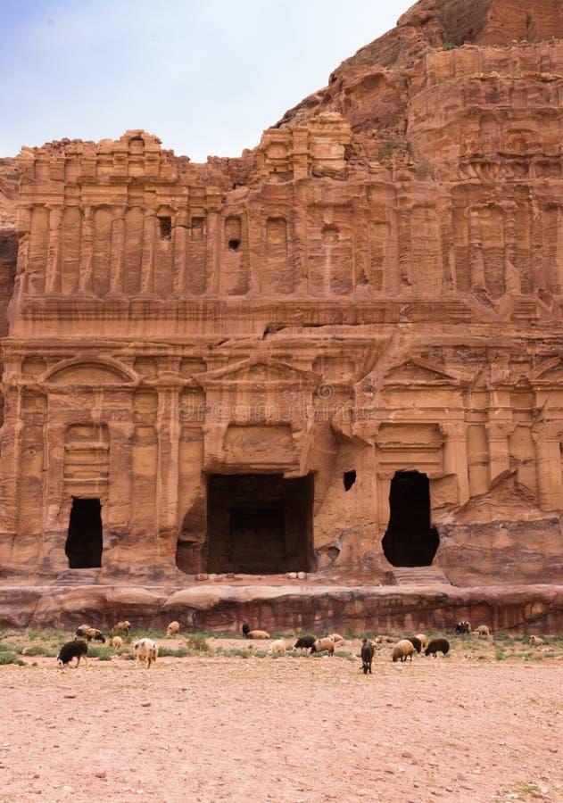 Túmulo do Corinthian, PETRA foto de stock royalty free