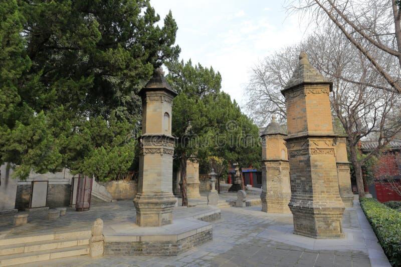Túmulo do grande templo do ciensi, adôbe rgb do budismo imagem de stock royalty free