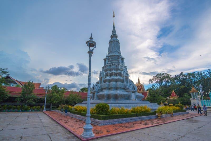 Túmulo do rei Soramrith Royal Palace, Camboja fotografia de stock