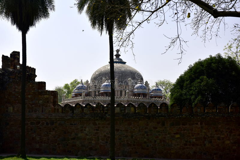 Túmulo do ` s de Humayun na Índia foto de stock royalty free