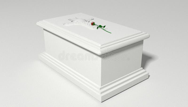 Túmulo e Rosa de pedra ilustração stock