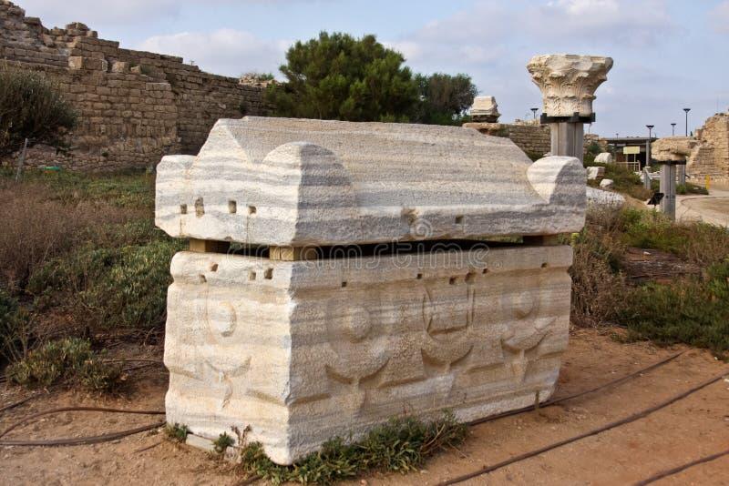 Túmulo em Caesarea imagem de stock