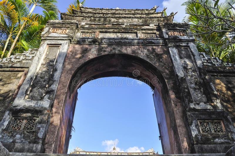 Túmulo imperial do imperador Khai Dinh Hue - Vietname fotos de stock