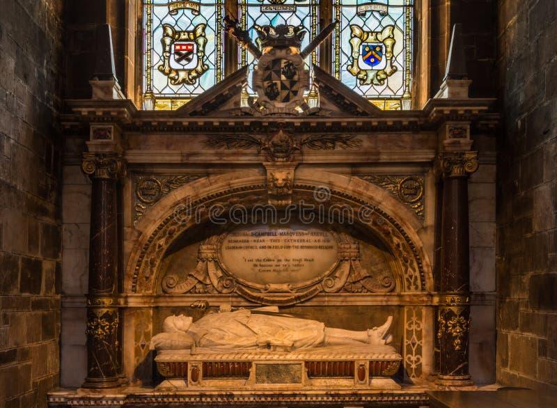 Túmulo memorável em St Giles Cathedral, Edimburgo, Escócia, Reino Unido imagens de stock royalty free