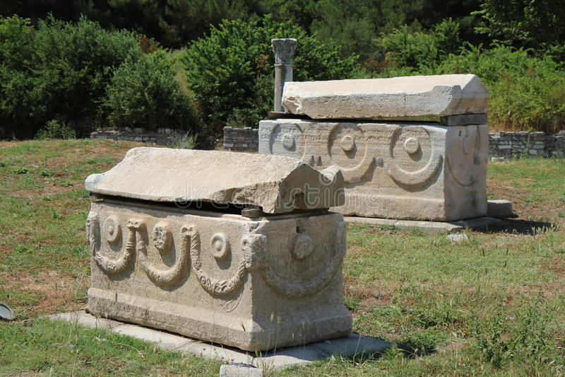 Túmulos de Ephesus imagens de stock royalty free
