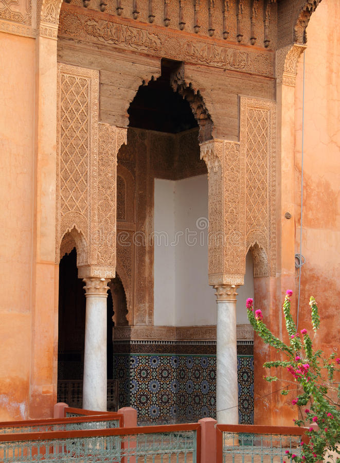 Túmulos de Saadian, arco islâmico imagens de stock royalty free