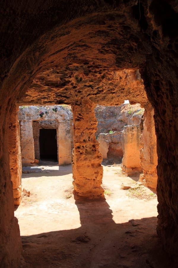 Túmulos dos reis, Paphos, Chipre imagem de stock royalty free