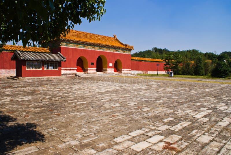 Túmulos imperiais chineses da dinastia de Ming no zhongxiang   imagem de stock