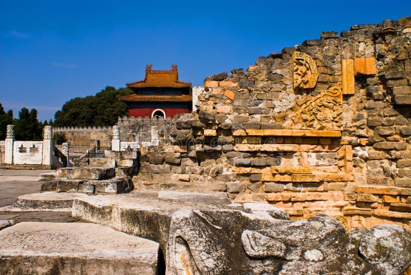 Túmulos imperiais chineses da dinastia de Ming no zhongxiang   imagens de stock royalty free