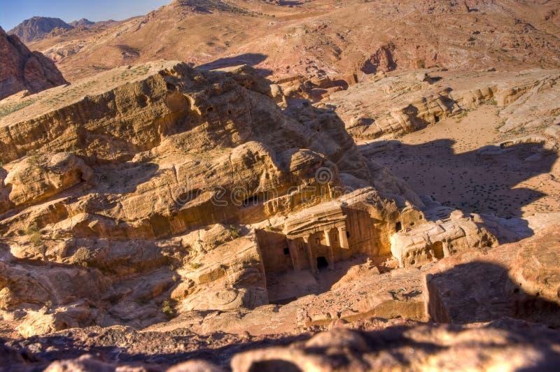 Túmulos, PETRA, Jordão fotografia de stock