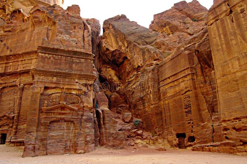 Túmulos reais em PETRA, Jordão. fotos de stock