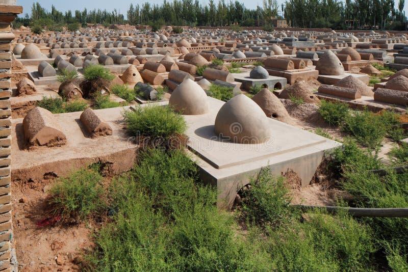 Túmulos velhos de Uyghur em Kashgar, Xinjiang, província, China ocidental foto de stock royalty free