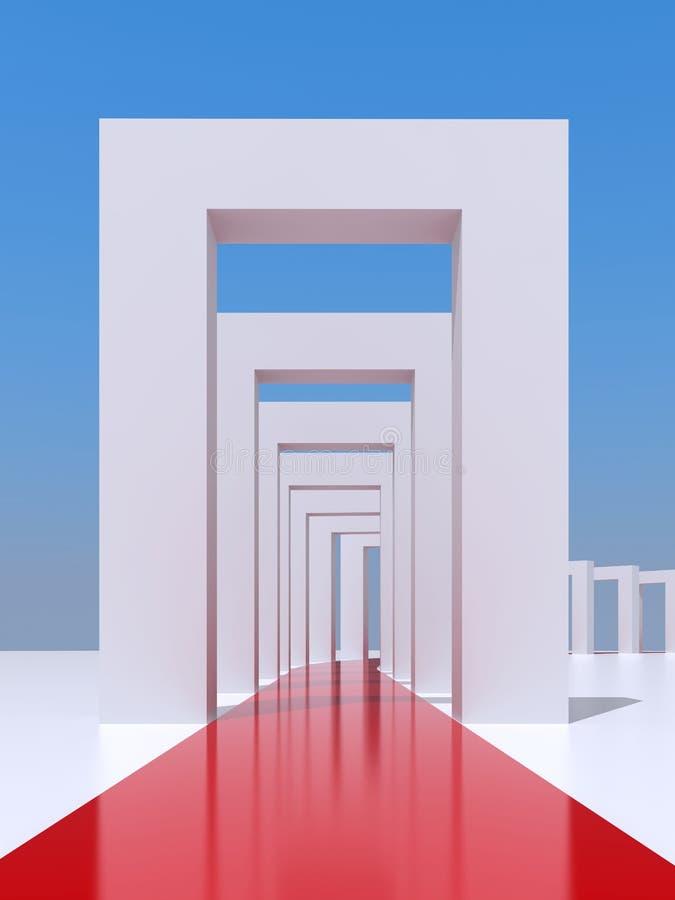 Túnel ilustração stock
