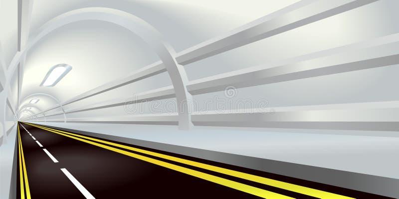 Túnel stock de ilustración