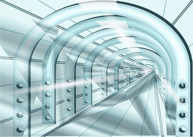 Túnel ilustração royalty free