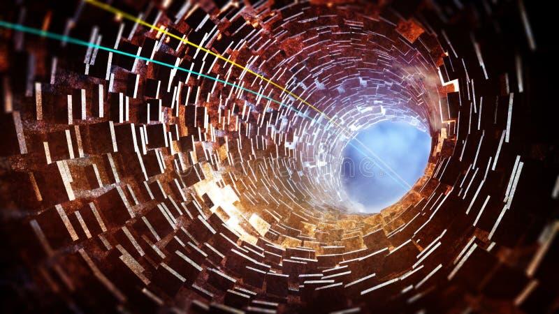 Túnel ilustración del vector
