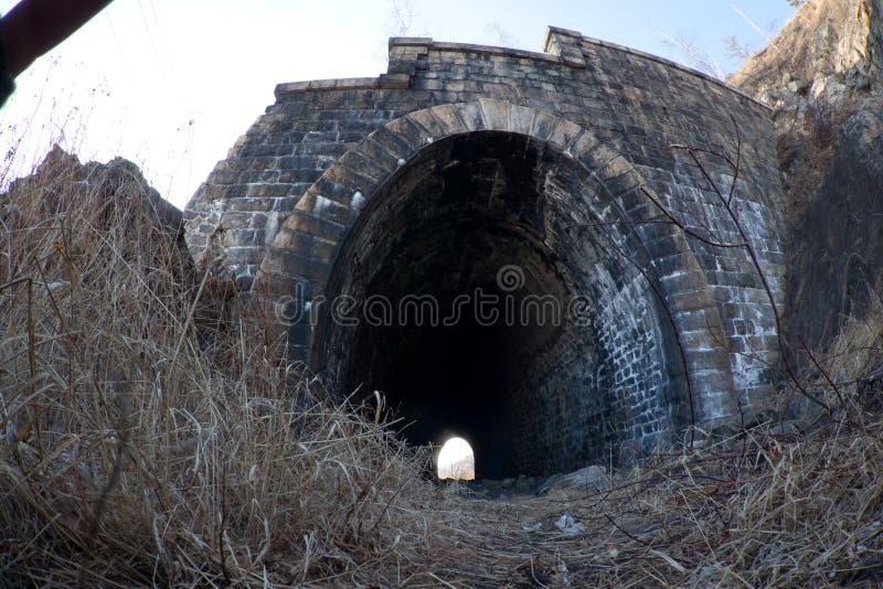 Túnel abandonado en el ferrocarril viejo fotos de archivo libres de regalías