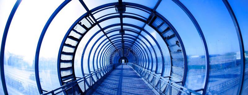 Túnel azul interior fotos de stock royalty free