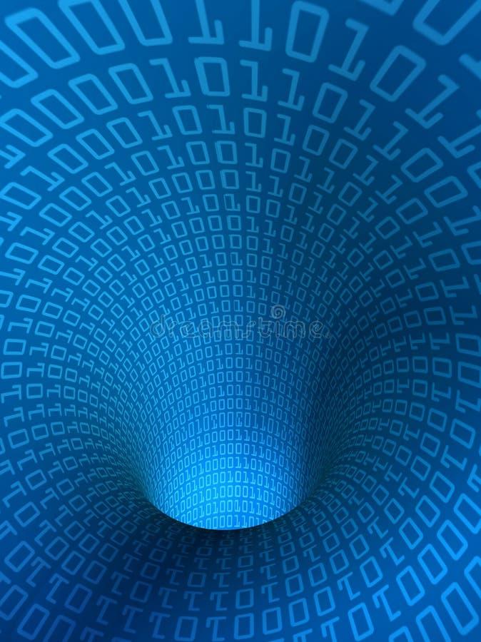 Túnel binario hueco ilustración del vector