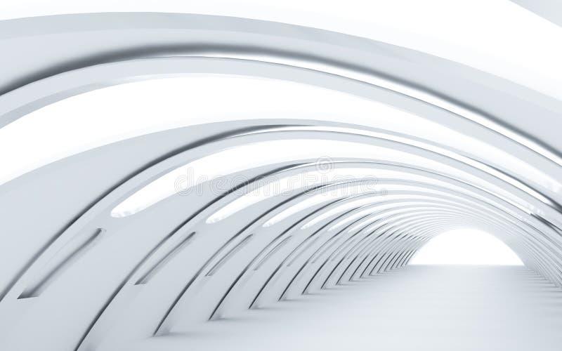 Túnel brilhado ilustração do vetor