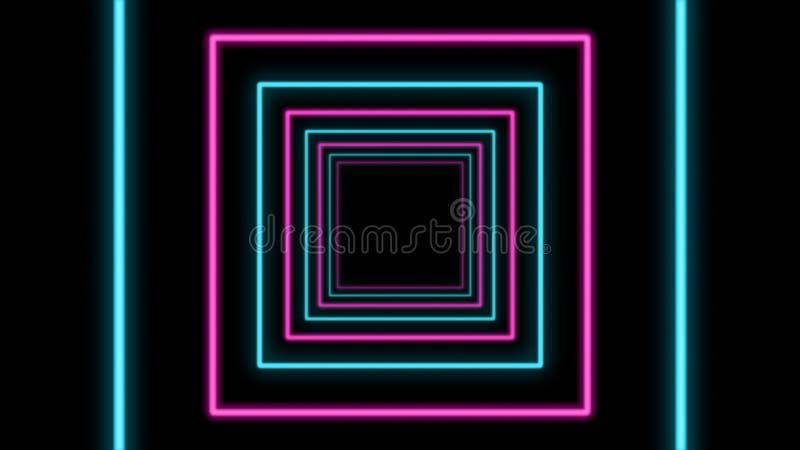 Túnel cúbico colorido do sumário ilustração do vetor