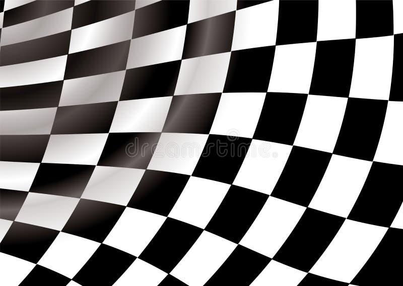 Túnel Checkered ilustração stock