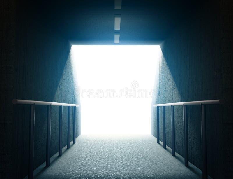 Túnel 3d da arena ilustração do vetor