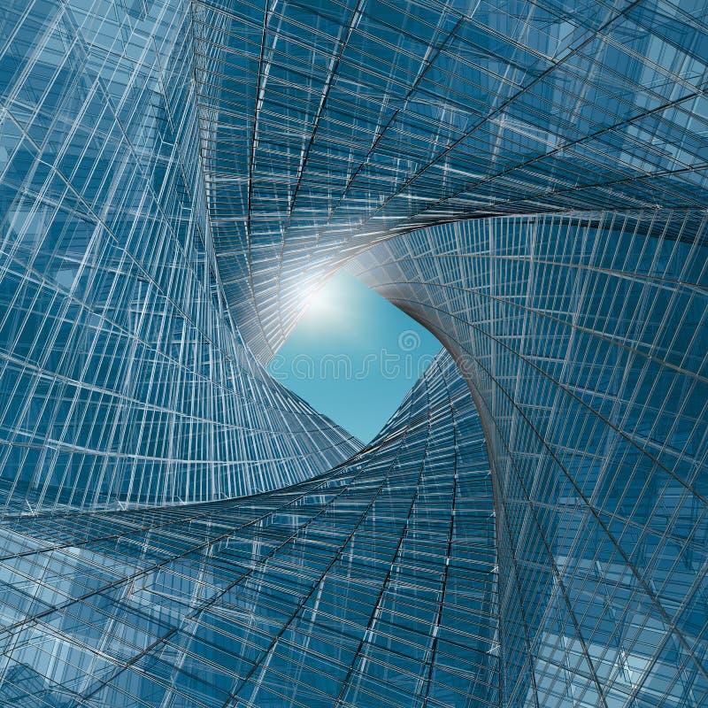 Túnel da engenharia ilustração do vetor
