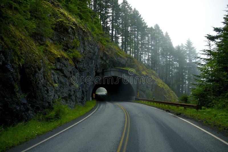 Túnel da estrada fotografia de stock