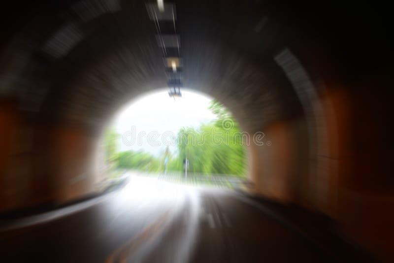 Túnel da estrada em Noruega fotos de stock royalty free