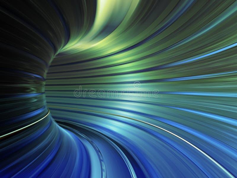 Túnel da velocidade ilustração do vetor