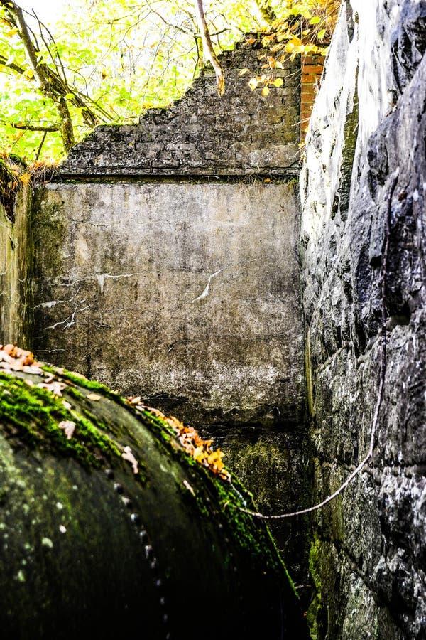 Túnel de água antigo para o moinho velho fotos de stock