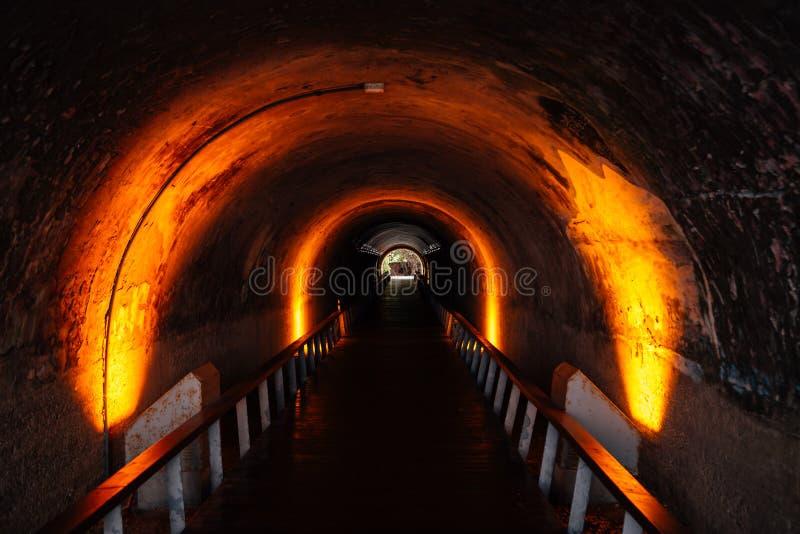 Túnel de Cijin na ilha de Cijin, Kaohsiung, Taiwan fotografia de stock royalty free