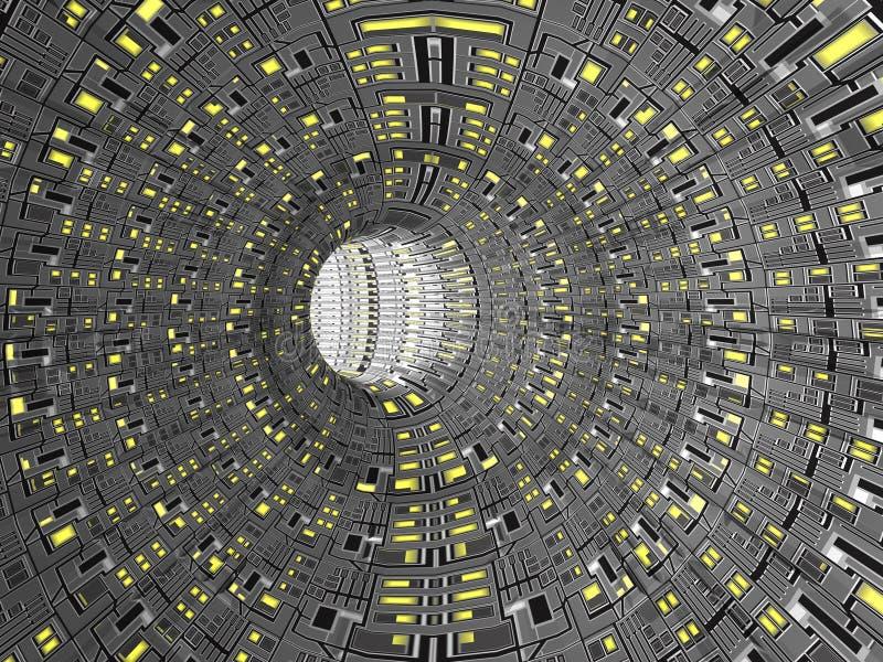 Túnel de Digitaces 3d ilustración del vector