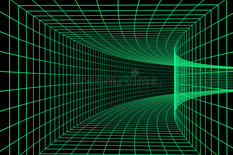 Túnel de Digitas 3d ilustração stock