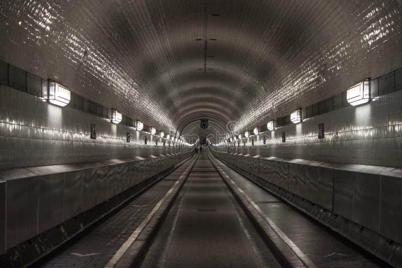 Túnel de Elba en Hamburgo imagen de archivo