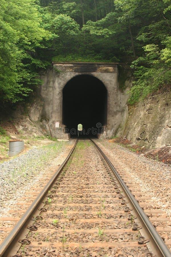 Túnel de estrada de ferro imagem de stock