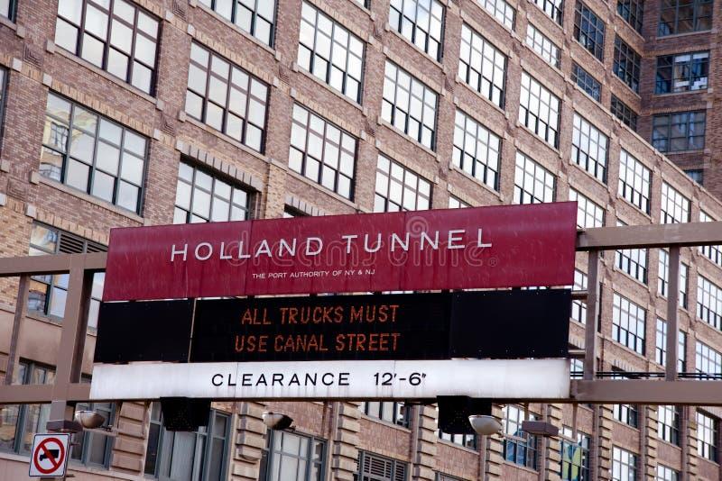 Túnel de Holland fotografia de stock royalty free