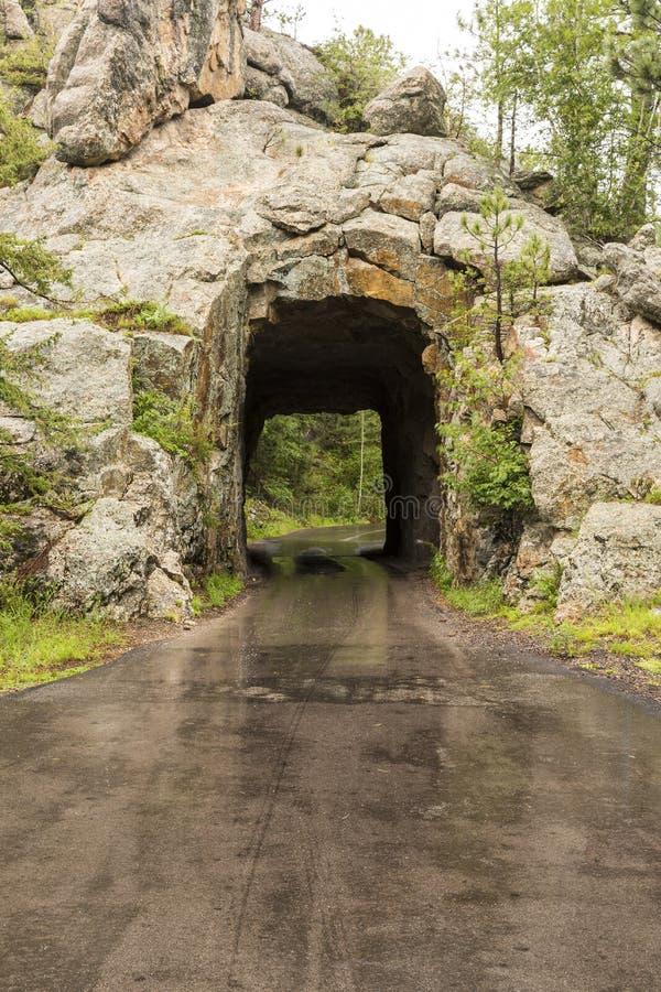 Túnel de la cala del hierro imagen de archivo
