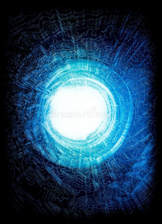 Túnel de la explosión de la energía imagen de archivo