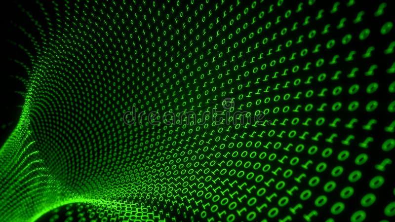 Túnel de la matriz del número libre illustration