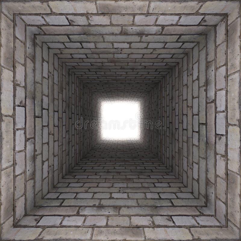 Túnel de la pared de ladrillo ilustración del vector