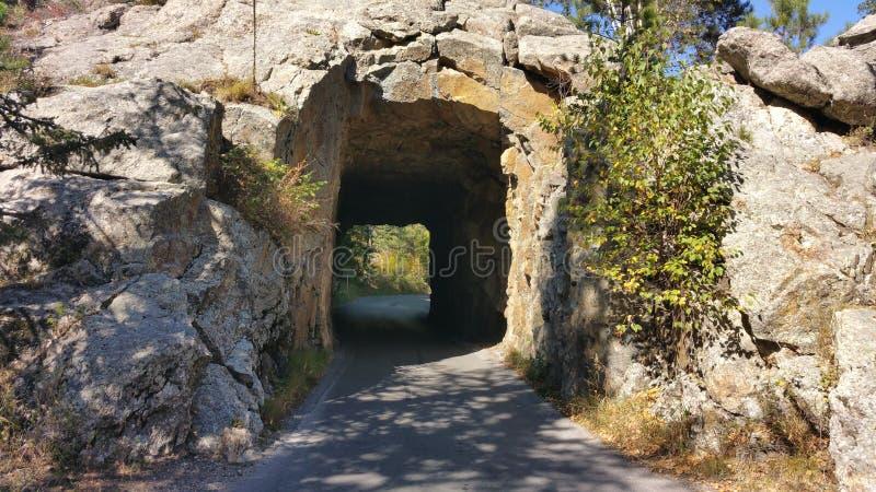 Túnel de la roca en Dakota del Sur foto de archivo libre de regalías