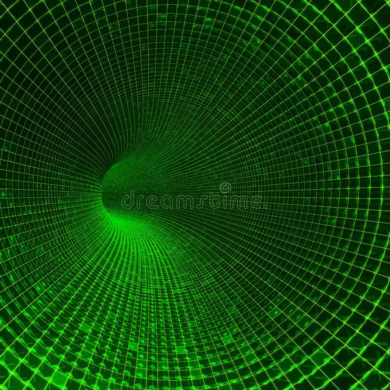 Túnel de la tecnología ilustración del vector